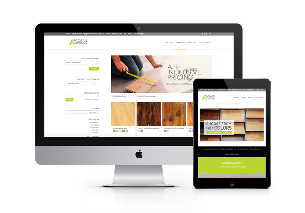 JV Wood Floors | Custom Web Design