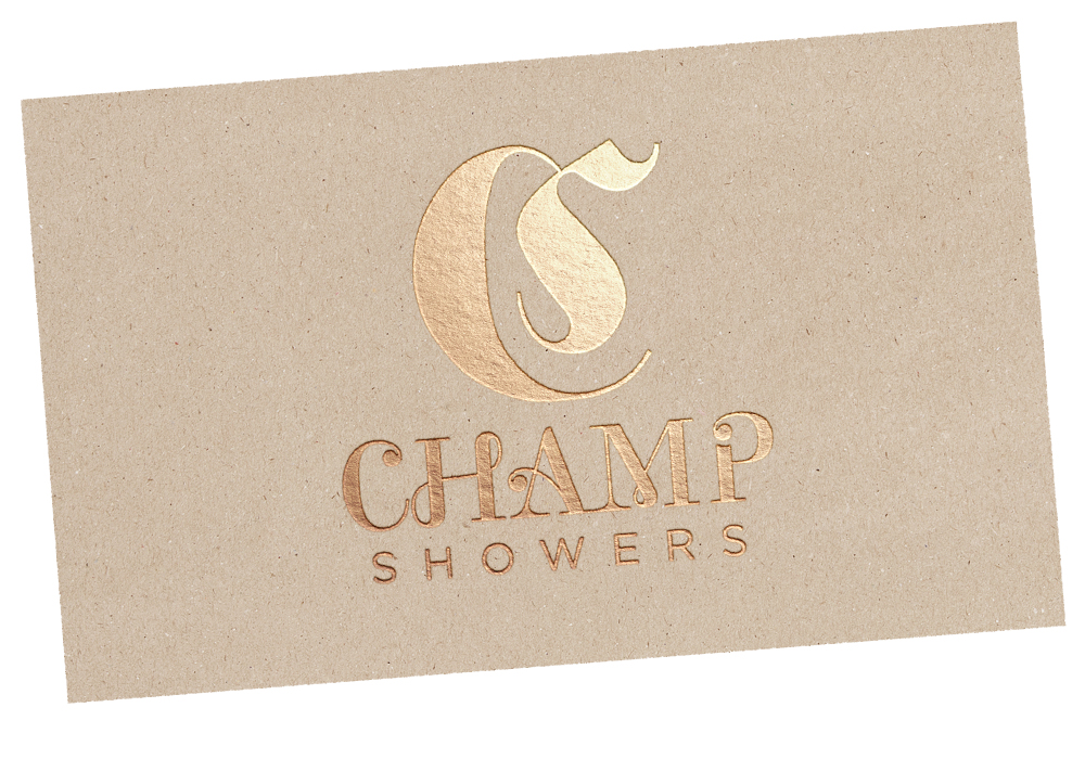 Champ Showers | Full Branding